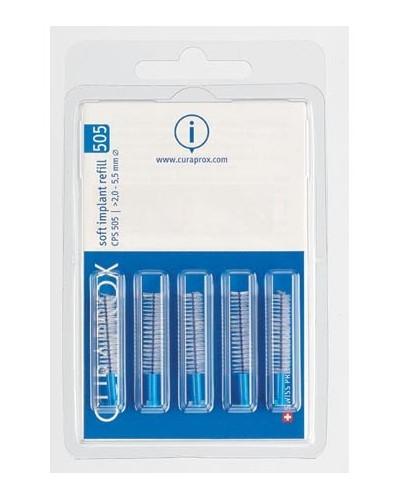 Hammasväliharja täyttöpakkaus implanteille, 505