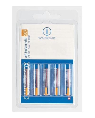 Hammasväliharja täyttöpakkaus implanteille, 507