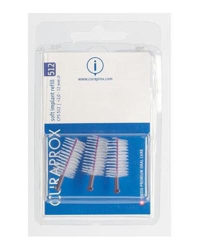 Hammasväliharja täyttöpakkaus implanteille, 512