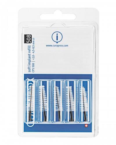 Hammasväliharja täyttöpakkaus implanteille, 508