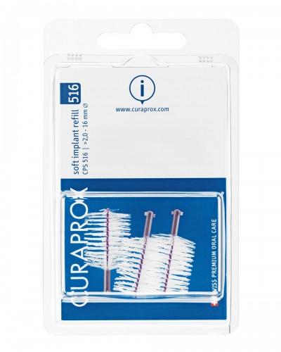 Hammasväliharja täyttöpakkaus implanteille, 516